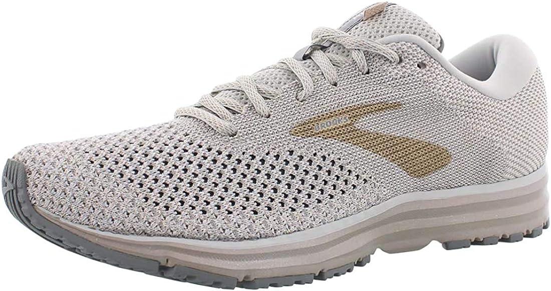 Brooks Womens Revel 2 Running Shoe White/Champagne