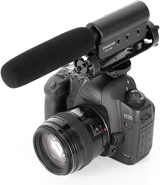 Ruili Cámara Micrófono DSLR Micrófono estéreo Mic para videocámara ...