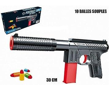 Espuma Longitud De Cm Lanza Pistola 30 10 Pelotas Flexibles WEeDHIY29