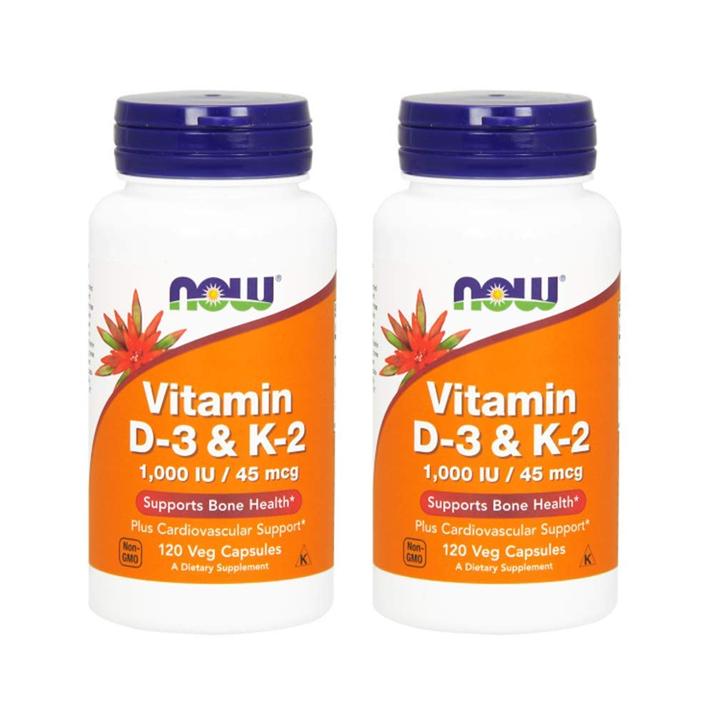 Vitamin D-3 & K-2 - 120 ct (Pack of 2)