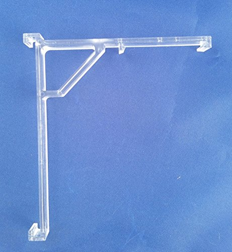 JCBlinds Vertical Blind Clear Valance Clip Bracket - PKG 2 (2 Blinds Vertical)