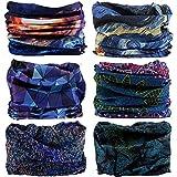 Neck Gaiter Headwear Headband Magic Scarf Seamless Bandana Warmer Perfit for Winter Runing, Fishing, Hiking, Motorcycle 12 in 1 Multi Function for Women and Men