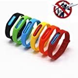 Mosquito Repellent Bracelets - Natural Deet Free - Waterproof Anti Mosquito Band - Bug & Insect Protection Wrist Bands for Adults & Kids, Perfect for Indoor Outdoor Travel Camping Hiking by Purple-Salt®