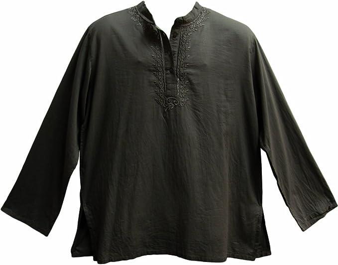 Amazon.com: Camisa de hombre de Indio de Yoga mandarina ...