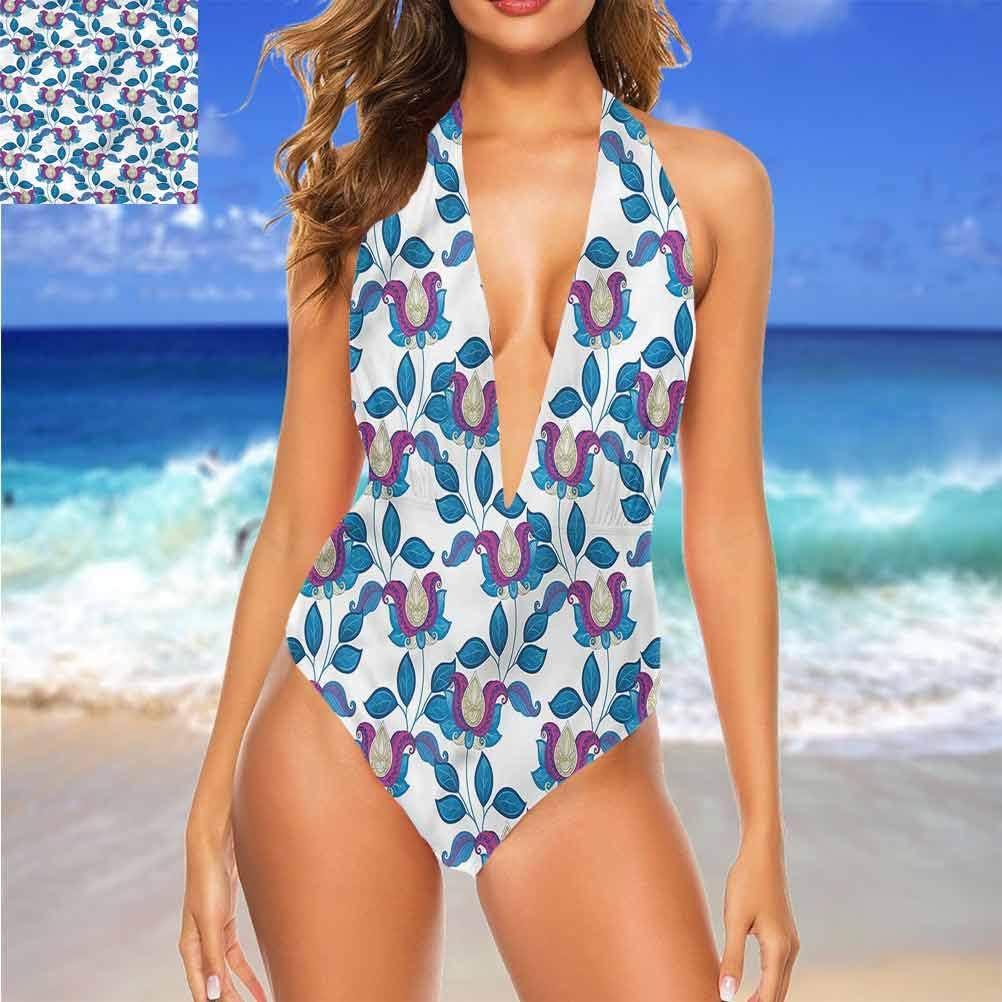 Adorise Beachwear Maillot de bain Fleur Soleil Réflexion Confortable et Flatteuse Multi 22