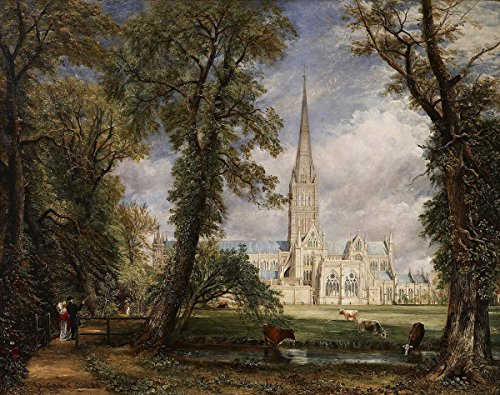 Gifts Delight Laminated 17x14 Poster: John Constable - Salisbury Cathedral from The Bishops Garden