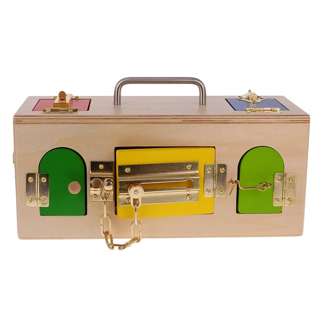 Sharplace Sharplace Sharplace Montessori Material  Lock Box   Verschluss Kasten, Kinder Lebenskompetenzen Lernspielzeug B06XZL4NM4   Neueste Technologie  5f1029