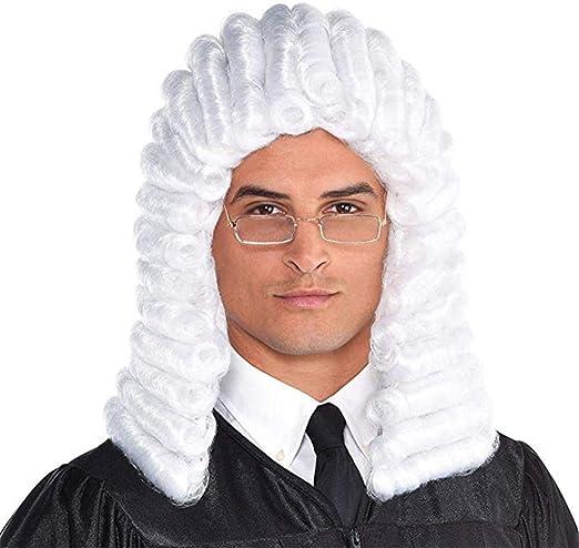 LYZT Blanco Gris Hombre Abogado Juez Colonial Deluxe Histórico ...