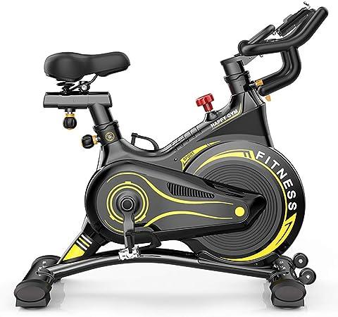 WWAVB Bicicleta EstáTica, Bicicleta Estacionaria Profesional, Entrenador De Ejercicios para El Hogar, Volante De Inercia De 6 Kg, Carga MáXima De 150 Kg: Amazon.es: Hogar