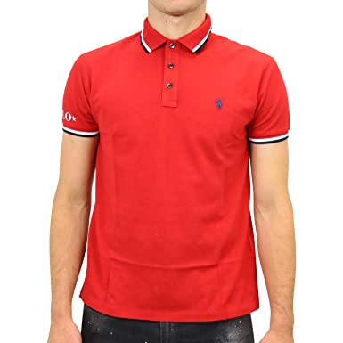 Polo Polo Ralph Lauren Sleeve Knit Rojo Hombre M Rojo: Amazon.es ...