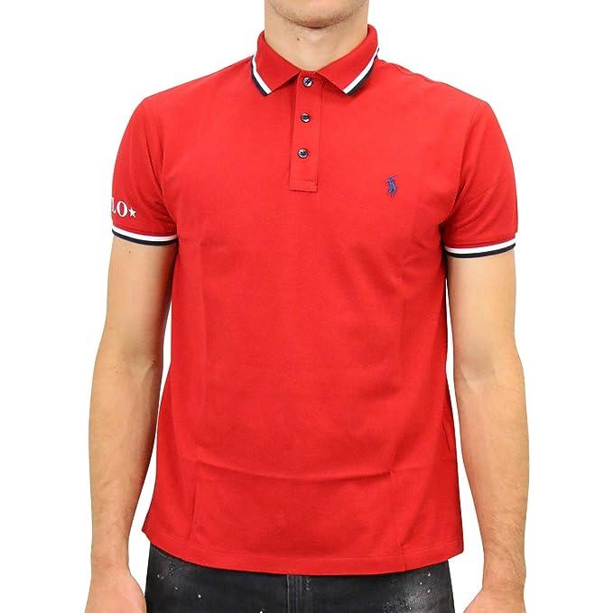 Polo Polo Ralph Lauren Sleeve Knit Rojo Hombre M Rojo: Amazon.es ...