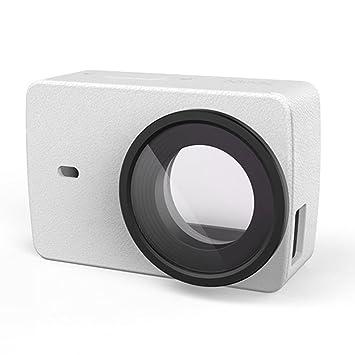 YI Lente protectora para cámara deportiva 4K + funda de piel