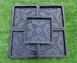 5pcs PLASTIK MOLDS CASTING CONCRETE PAVING GARDEN PATHS PAVEMENT STONE PATIO#S30
