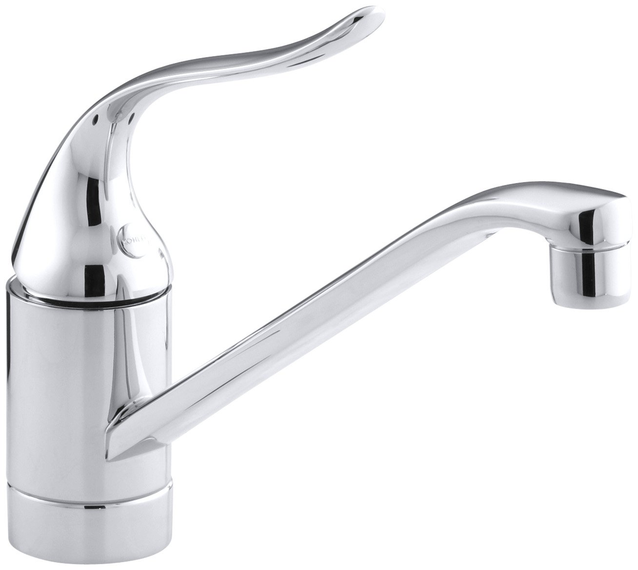 KOHLER 15175-F-CP Coralais R Single-Hole Sink 8-1 2 spout and Lever Handle Kitchen Faucet, Polished Chrome