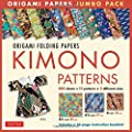 Origami Folding Papers Jumbo Pack: Kimono Patterns: 16-page Book, 300 Folding Sheets in 3 Sizes (6 inch; 6 3/4 inch and 8 1/4 inch)