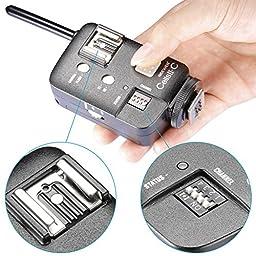 Neewer CellsII-C High Sync Speed Wireless Flash Strobe Trigger Transimitter Receiver for Canon EOS Series Cameras,Witstro series Speedlite,Neewer TT520 TT560 TT680 TT850 Flash (2 Pieces)