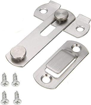 Hogar Acero Corredera Trabe Seguridad Puerta Protector Cierre Perno + 4 Tornillos: Amazon.es: Bricolaje y herramientas