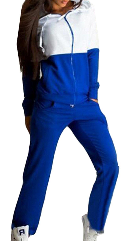 CFD Womens Hoodie Tracksuit Sweatshirt Sweatpants Set Sport