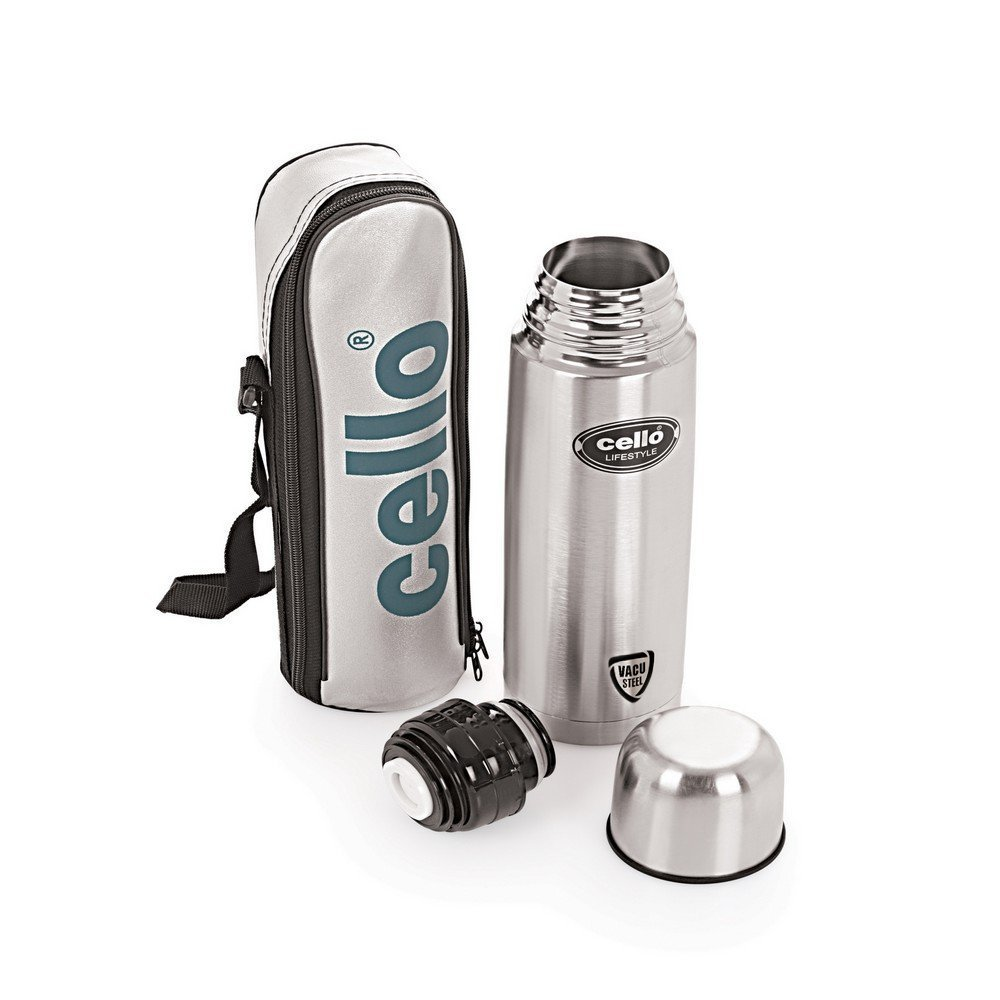 Cello Lifestyle Stainless Steel Flask, 750ml,Silver
