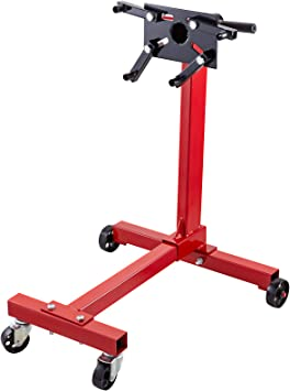 JEGS 80041 Red Engine Stand 1250 lbs Capacity 360 Degree Head Motor Stand