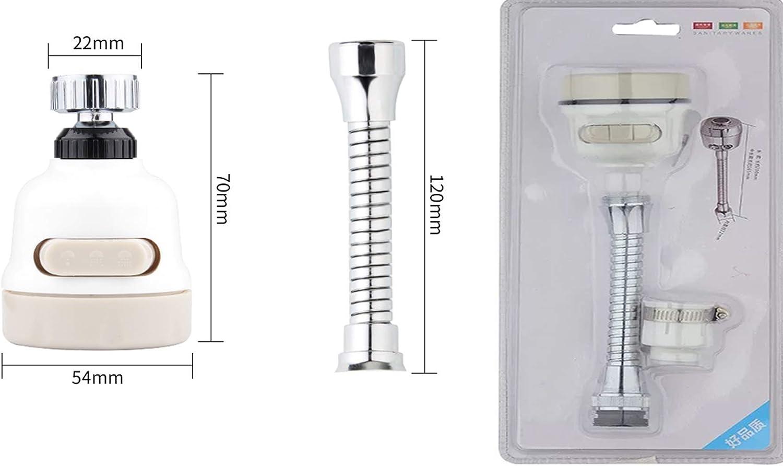 dispositif d/'/économie d/'eau /à trois A/érateur de robinet pivotant /à 360 /° anti-/éclaboussures r/éhausseur de robinet de cuisine rallonge de robinet r/églable filtre anti-/éclaboussures