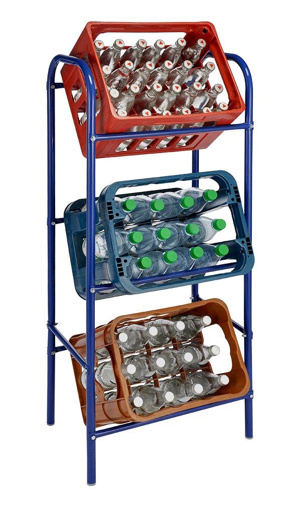 Spetebo Getränkekistenregal Für 3 Getränkekästen   Weiß   Kastenregal,  Kastenständer: Amazon.de: Küche U0026 Haushalt