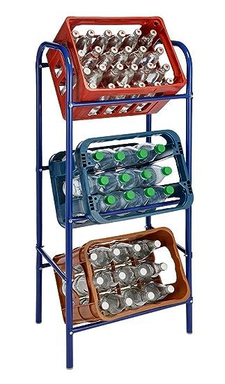 Getränkekisten Regal Selber Bauen getränkekistenregal für 3 getränkekästen blau kastenregal