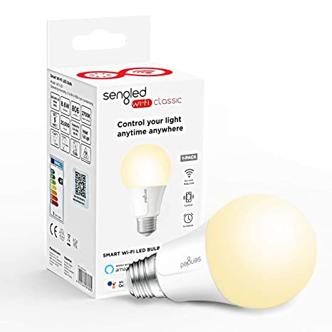 Sengled Bombilla LED E27 Inteligente WiFi ajustable, 60W Equivalente Luz Suave Calida Regulable, Control