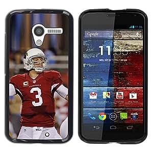 LauStart ( 3 Jugador de f¨²tbol ) Motorola Moto X 1 1st GEN I Arte & dise?o pl¨¢stico duro Fundas Cover Cubre Hard Case Cover para