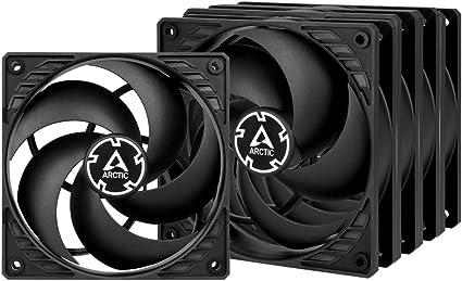 ARCTIC P12 (5 piezas) - 120 mm Ventilador de Caja para CPU, Motor Muy Silencioso, Computadora, 1800 RPM - Negro: Amazon.es: Informática