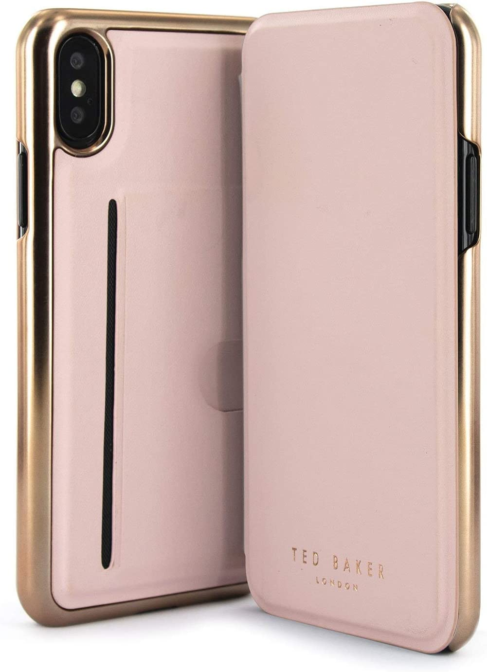 Ted Baker SHANNON Fashion Mirror Folio Case with outer Card Slot for iPhone X/XS, Contactless Card Slot Cover without Magnets for Women: Amazon.es: Electrónica