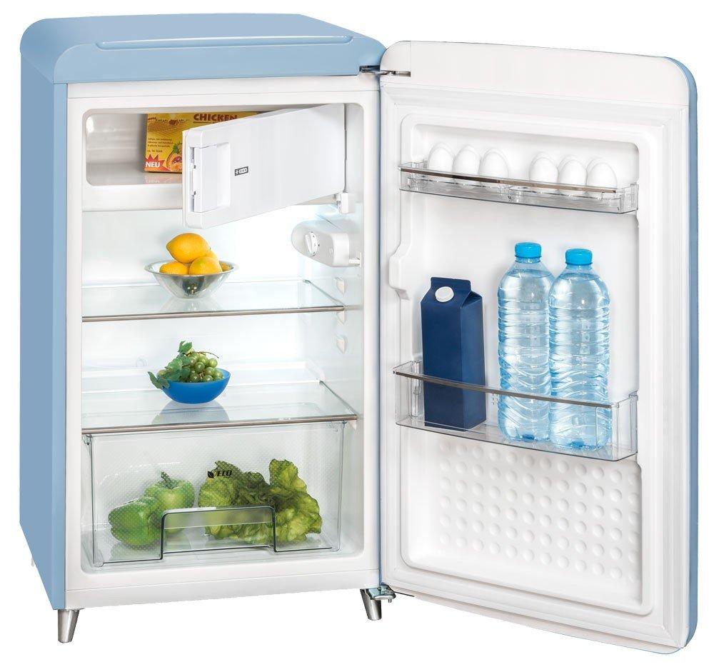 Stand Kühlschrank Tiefkühl Gefrier Box blau Eis Fach 121 L Exquisit ...
