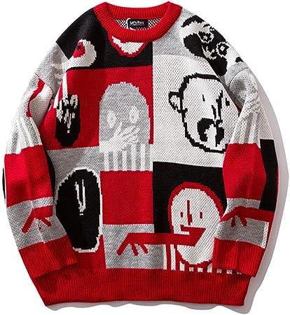 ZHOUJIE Suéter de otoño e Invierno para Hombre, suéter de Hip-Hop ...