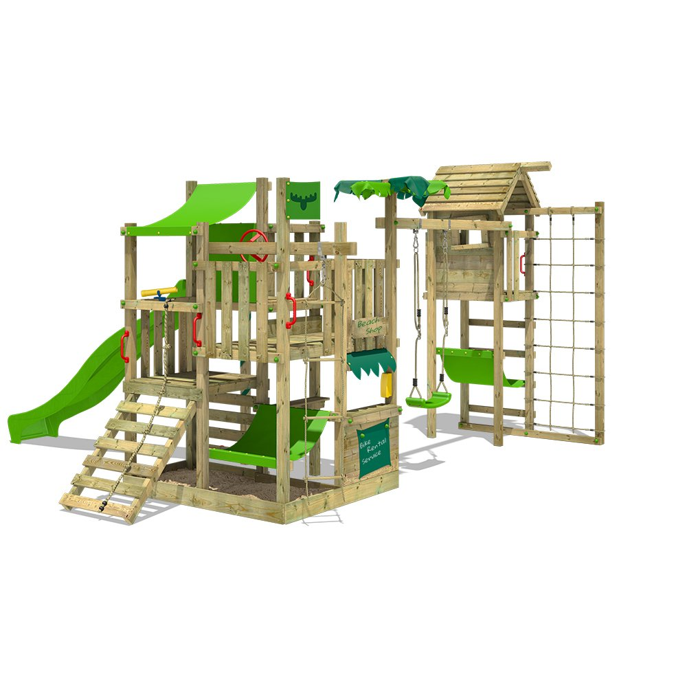 FATMOOSE Spielturm BananaBeach Big XXL Kinder-Spielplatz mit ...