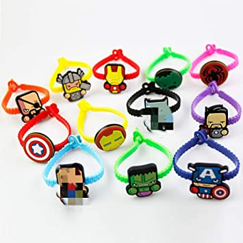 Amazon.com: KONLOY Superhéroe pulseras de goma para niños y ...
