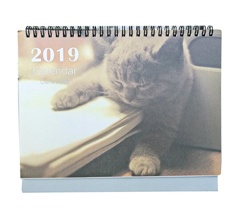Amazon.com : Cute Cartoon Cat Calendar Creative Calendar ...