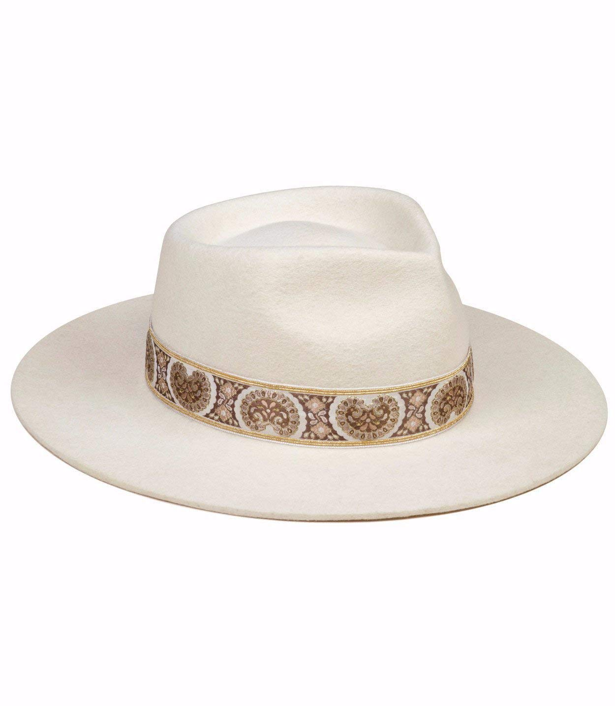 Lack of Color Women's The Beverly Vintage-Style Classic Wool Fedora (Ivory, Small (55 cm)) by Lack of Color