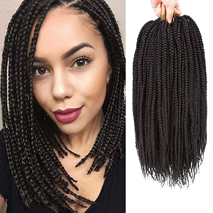 Amazon Com Vrhot 6packs 12 Box Braids Crochet Hair Pre Looped Crochet Braids 3s Soft Synthetic Hair Extensions Hairstyles Braiding Hair Style Dreadlocks For Black Women 12 Inch 12 Inch 1b Beauty