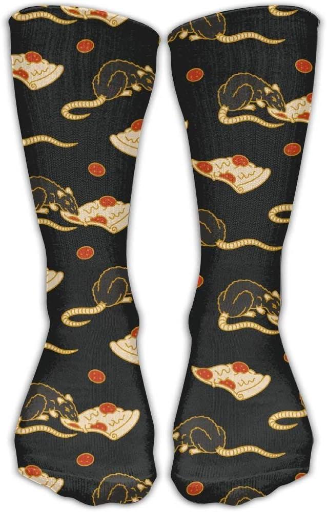 Pizza Rata Unisex Novedad Calcetines de tripulación Calcetines de vestir de tobillo Se ajusta al tamaño del zapato 6-10: Amazon.es: Salud y cuidado personal