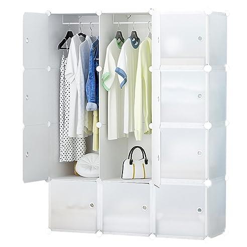 ETTBJA DIY Plastik Schrank Portable transparent Kleiderschrank ...