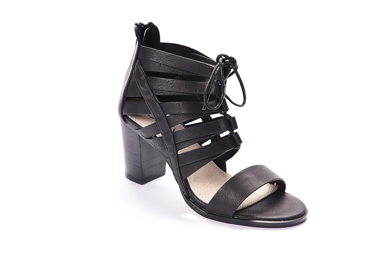 Andrew Stevens Women's Julissa High Heeled Sandal (9, Black)