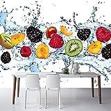 BZDHWWH Custom 3D Mural Custom 3D Modern Fruit Mural Living Room Tv Tooling Background Wall Restaurant Wallpapers Stereo Hd Mural,160Cm (H) X 240Cm (W)