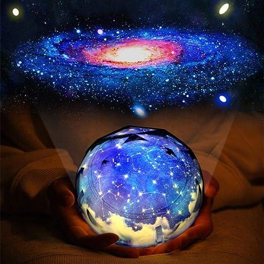 Luces de noche Planeta giratorio Proyector mágico Universo ...