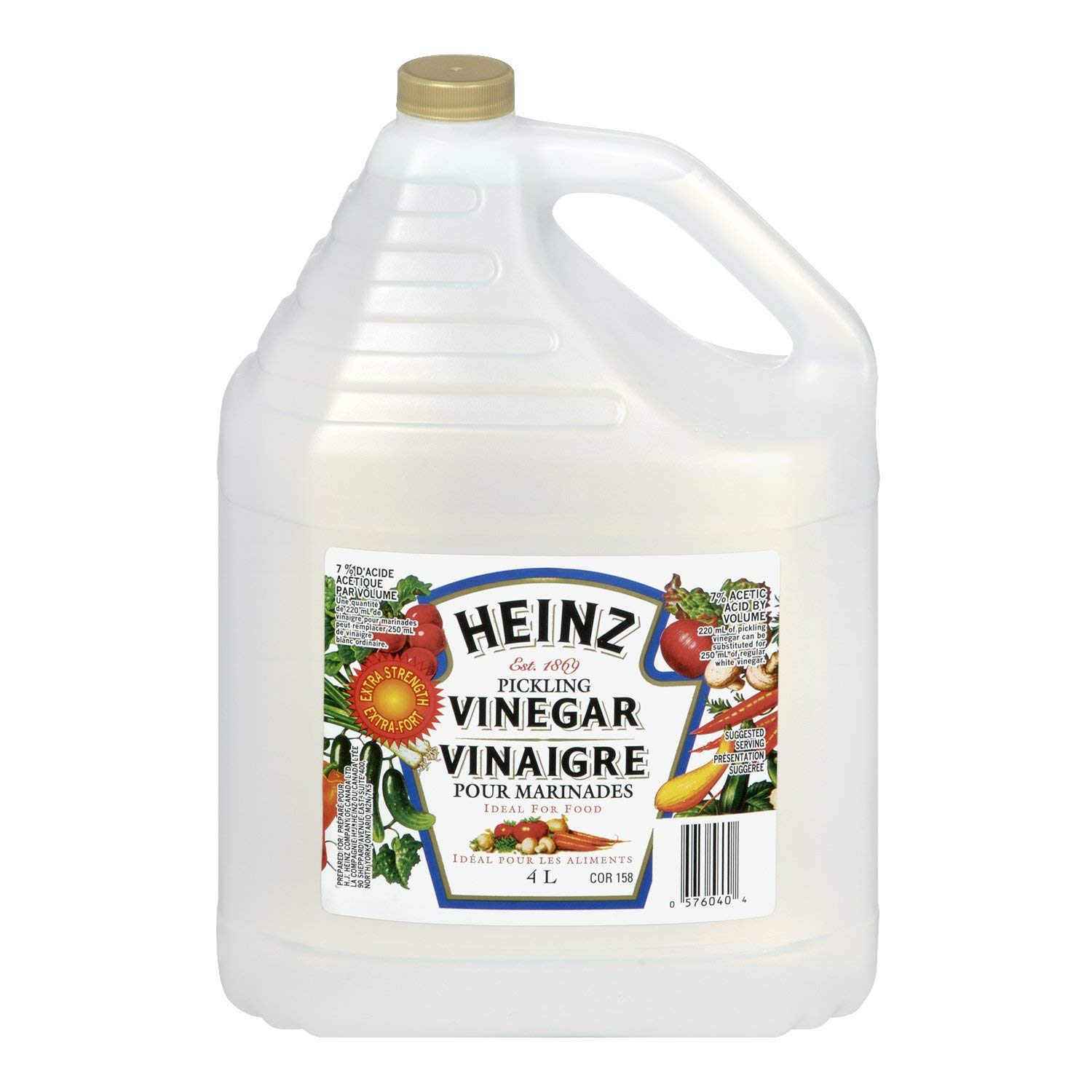 Heinz Pickling Vinegar, 4 Liters/1.06 Gallons, Imported from Canada} by Heinz