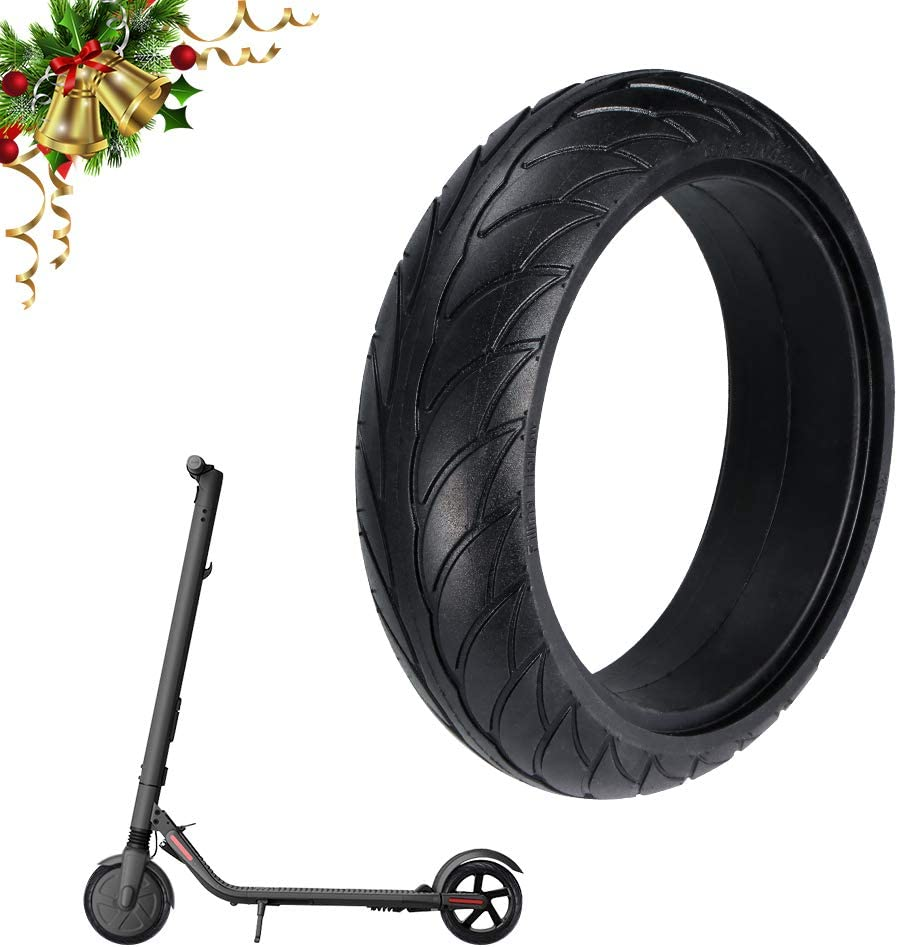 OurLeeme Neumático de Scooter eléctrico de 8 Pulgadas, reemplazo sólido de la Rueda del neumático Reemplazo de la Rueda del neumático Trasero Delantero para XiaoMi Ninebot ES1 / 2/4