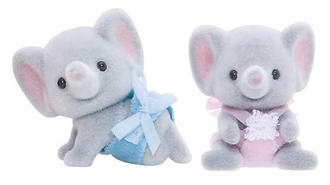Sylvanian Families 3560 - Figuras de bebés gemelos, diseño de elefante