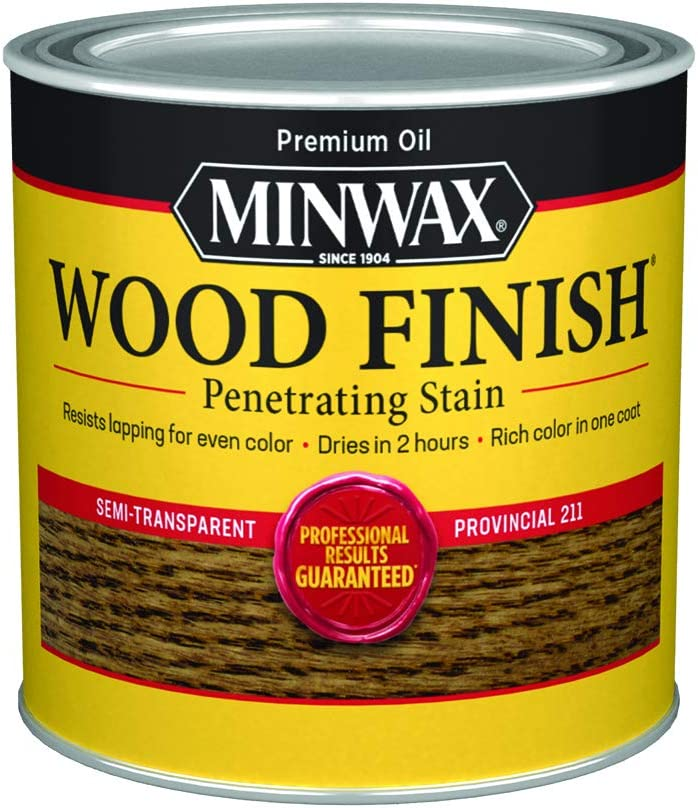 Minwax 221104444 Wood Finish Penetrating Interior Wood Stain, 1/2 pint, Provincial