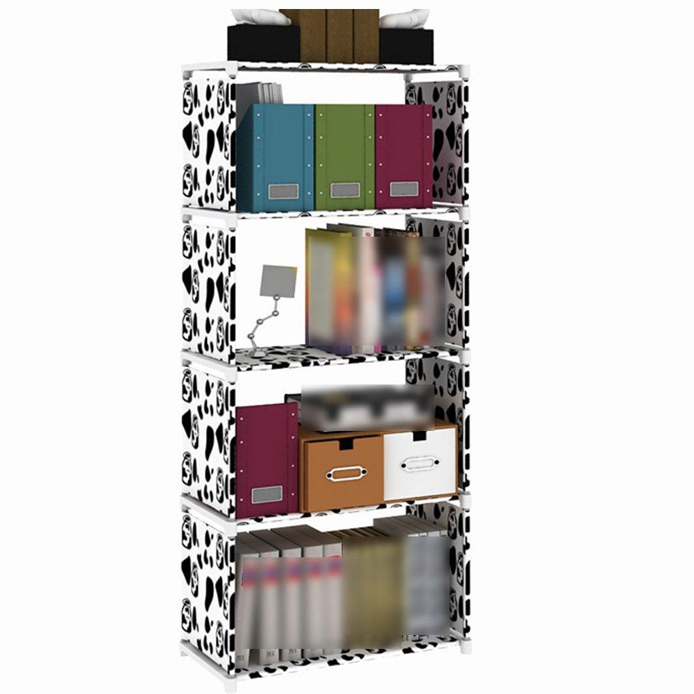 HPLL Storage Racks Floor-standing Multi-layer Kitchen Shelf Student Children's Desktop Storage Small Bookshelf (Color : White)