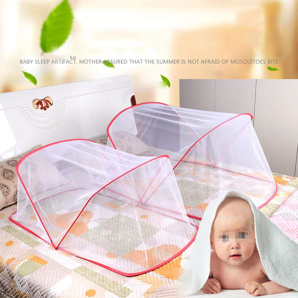 HCMPM Baby Mosquito net Bottomless Folding encryption Universal Baby Mosquito net Cover yurt Mosquito net Baby Bed Mosquito net Free installationTravel Bed Portable pop up,Blue,955640cm