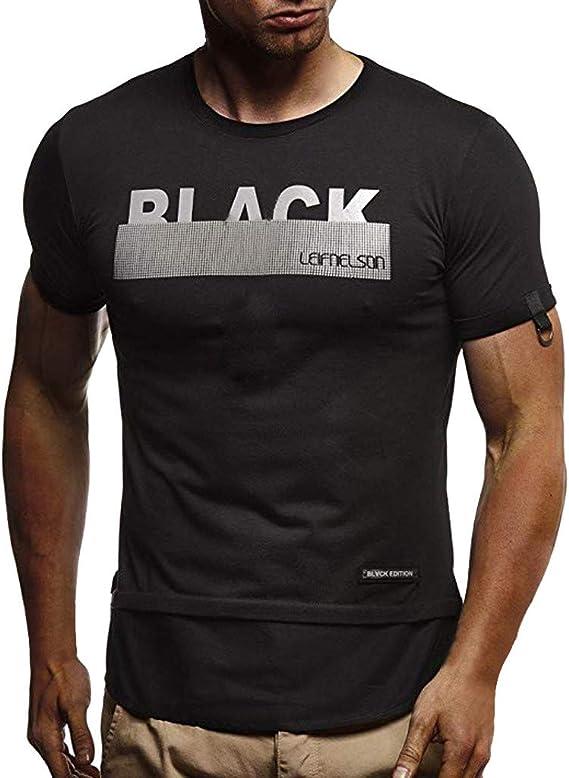 Hombre Camiseta, MISSWongg Ropa de Moda Verano Slim Fit Verano ...